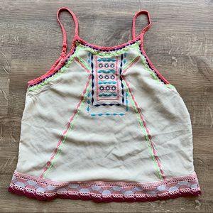 Flying Tomato | Boho Embroidered Tank